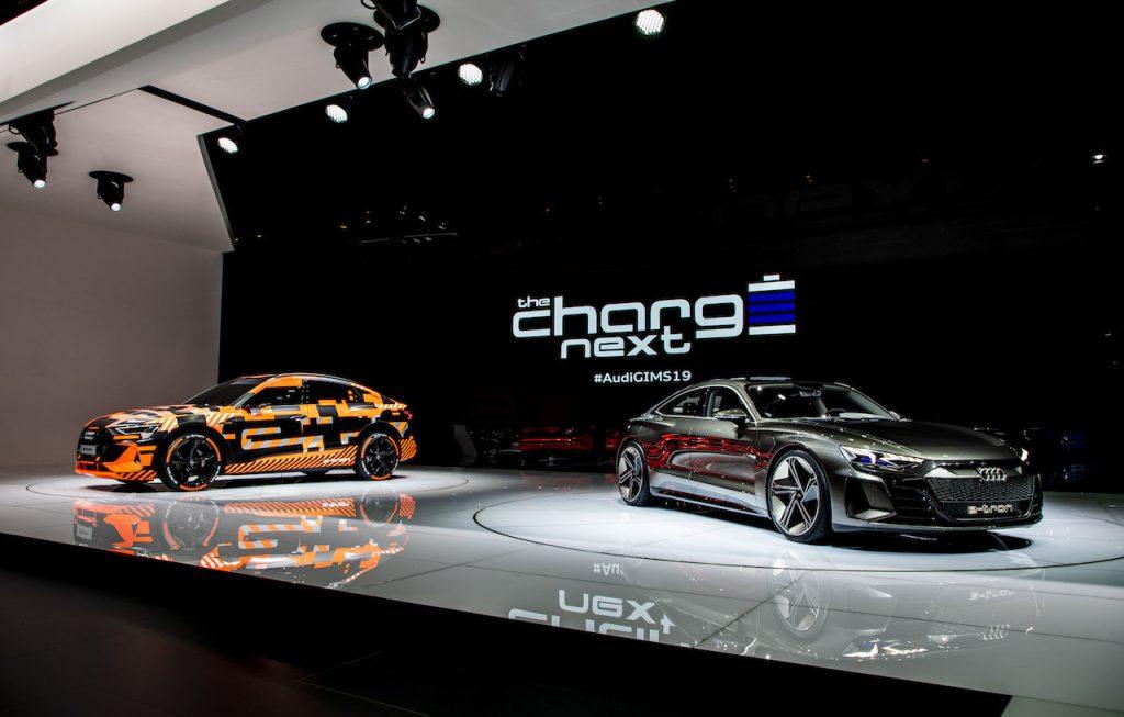 Audi e-tron Sportback prototype a Audi e-tron GT concept - Ženeva 2019