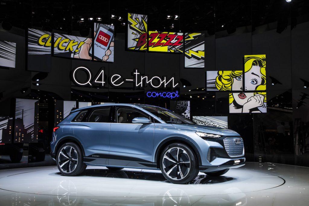Audi Q4 e-tron concept - zepředu - Ženeva 2019
