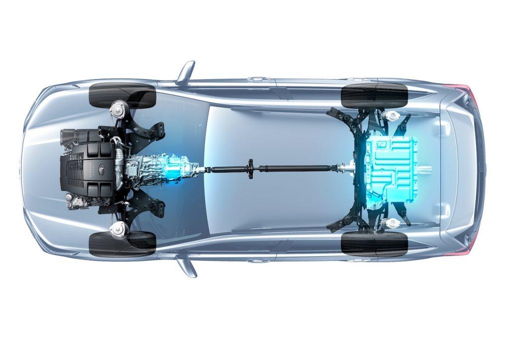 Subaru e-Boxer - schéma pohonu