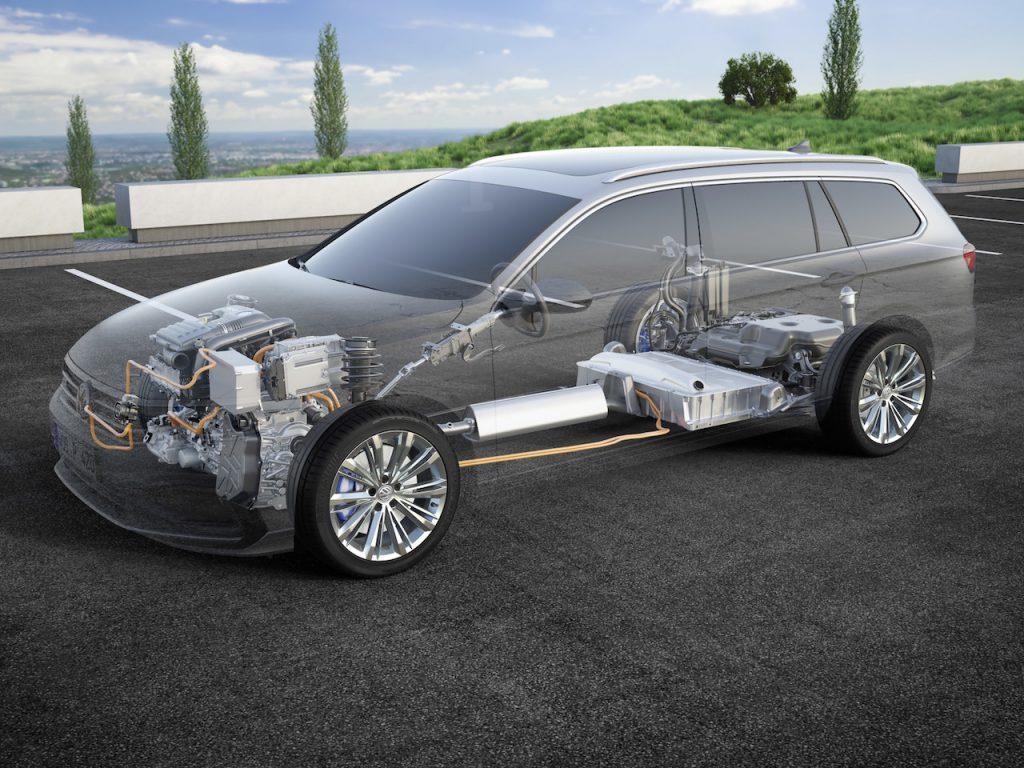Nový Volkswagen Passat GTE Variant - schéma pohonu