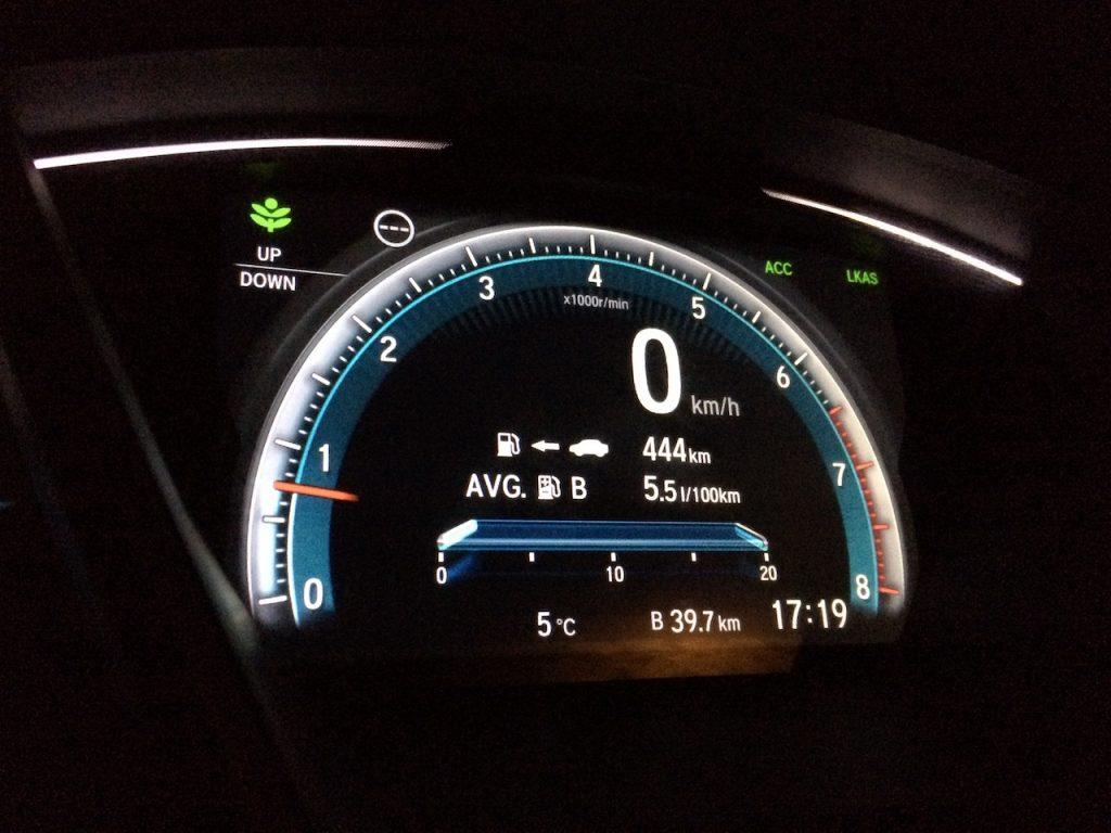 Honda Civic Sedan 1,5 VTEC TURBO 134kW 6MT – skutečná spotřeba