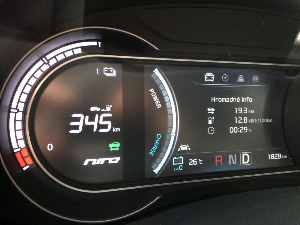 Kia e-Niro - kombinovaná spotřeba