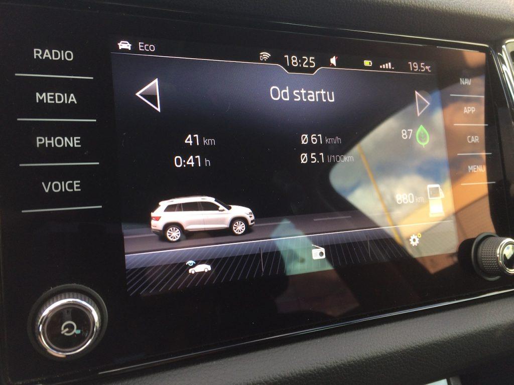 Škoda Kodiaq 2,0 TDI 110 kW DSG - skutečná spotřeba