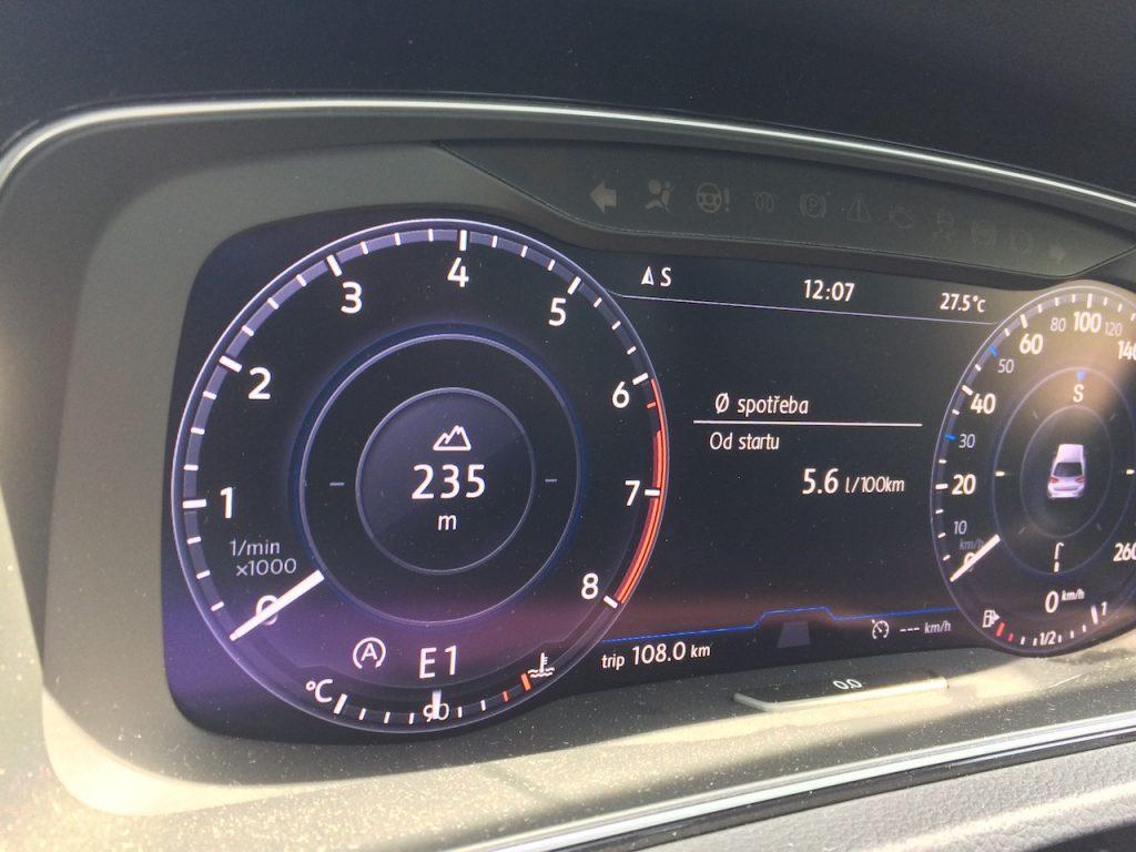 Volkswagen Golf 1,5 TSI ACT 110 kW DSG - skutečná spotřeba