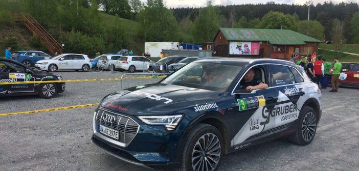 Guido Guerinni a jeho tovární Audi e-tron na startu