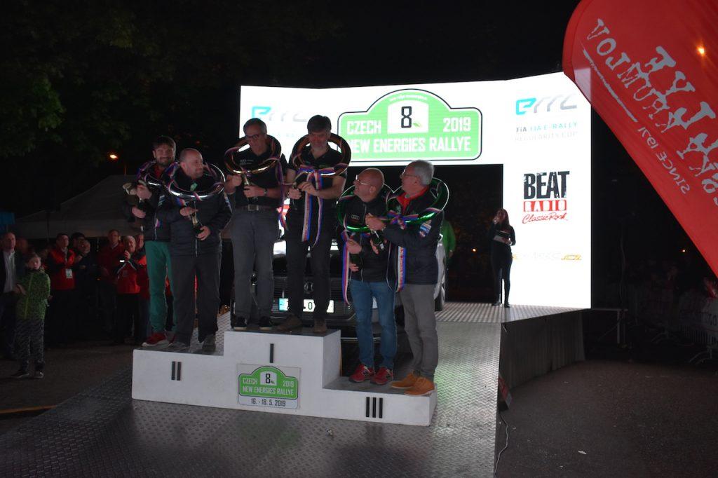 Stupně vítězů 8. Czech New Energies Rallye 2019