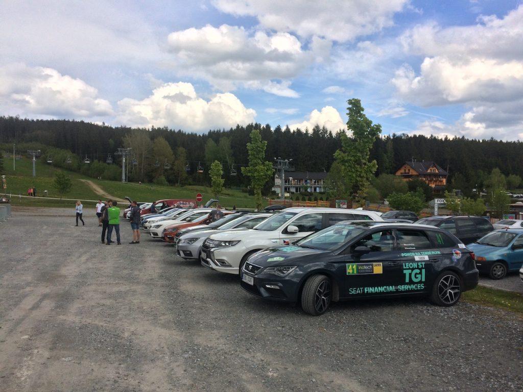 Vozy startující v poháru Česká Trophy v ECO Rally - Lipno