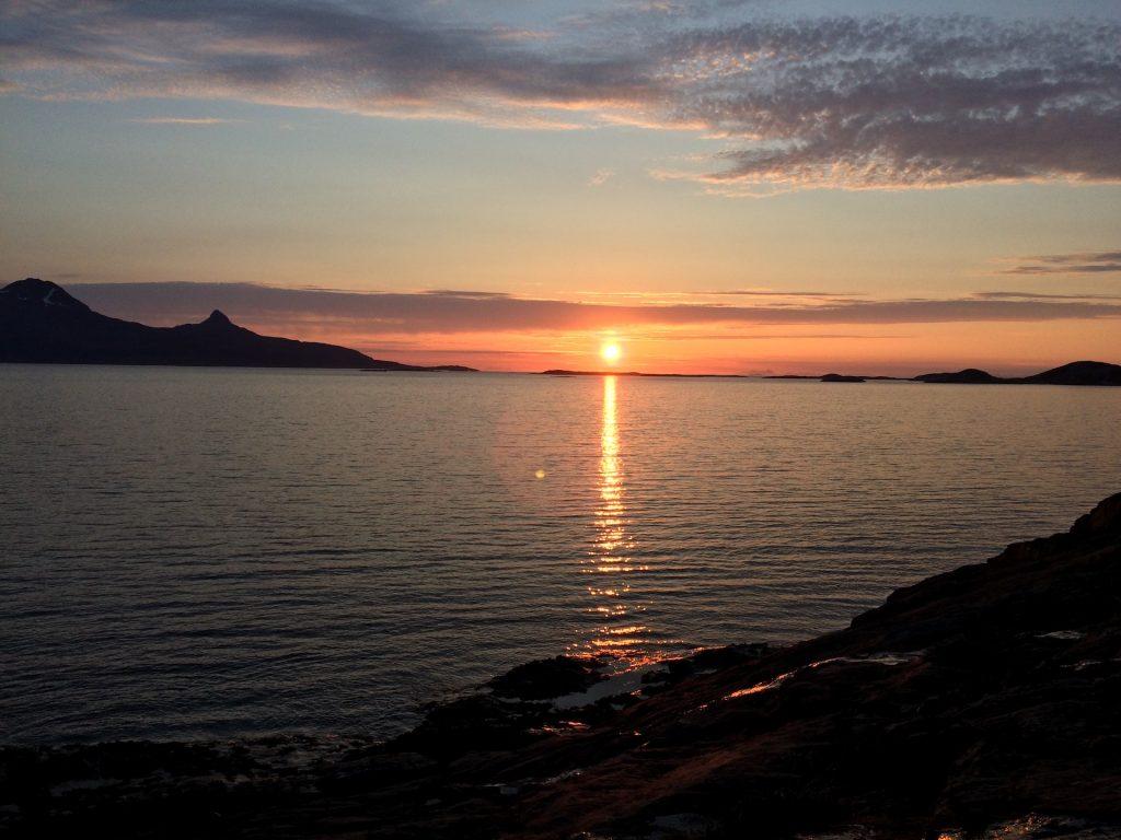 Bodø - půlnoční slunce