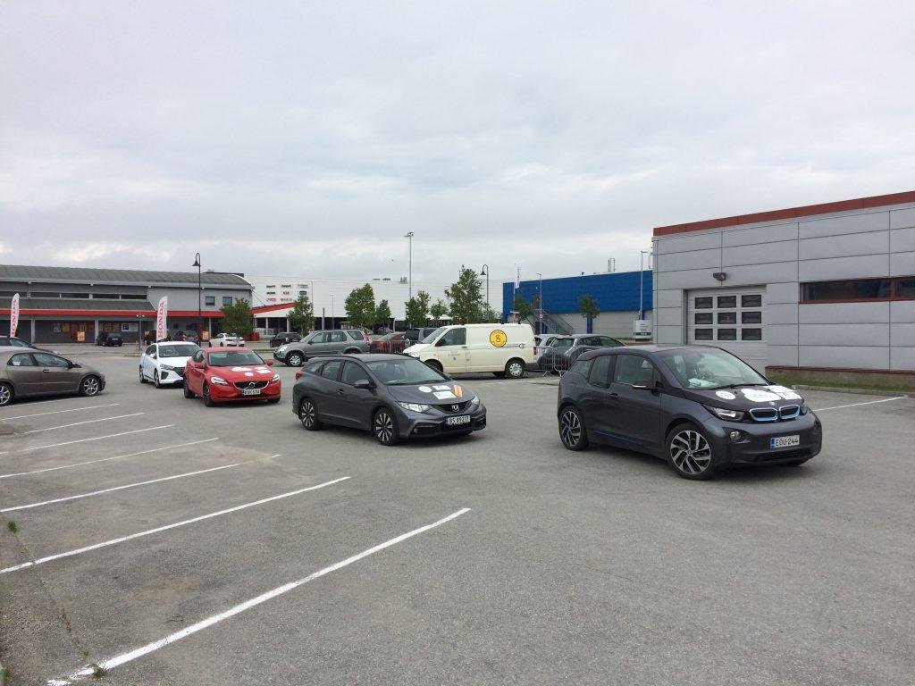 Bodø - vozidla před startem Midnight Economy Run 2019