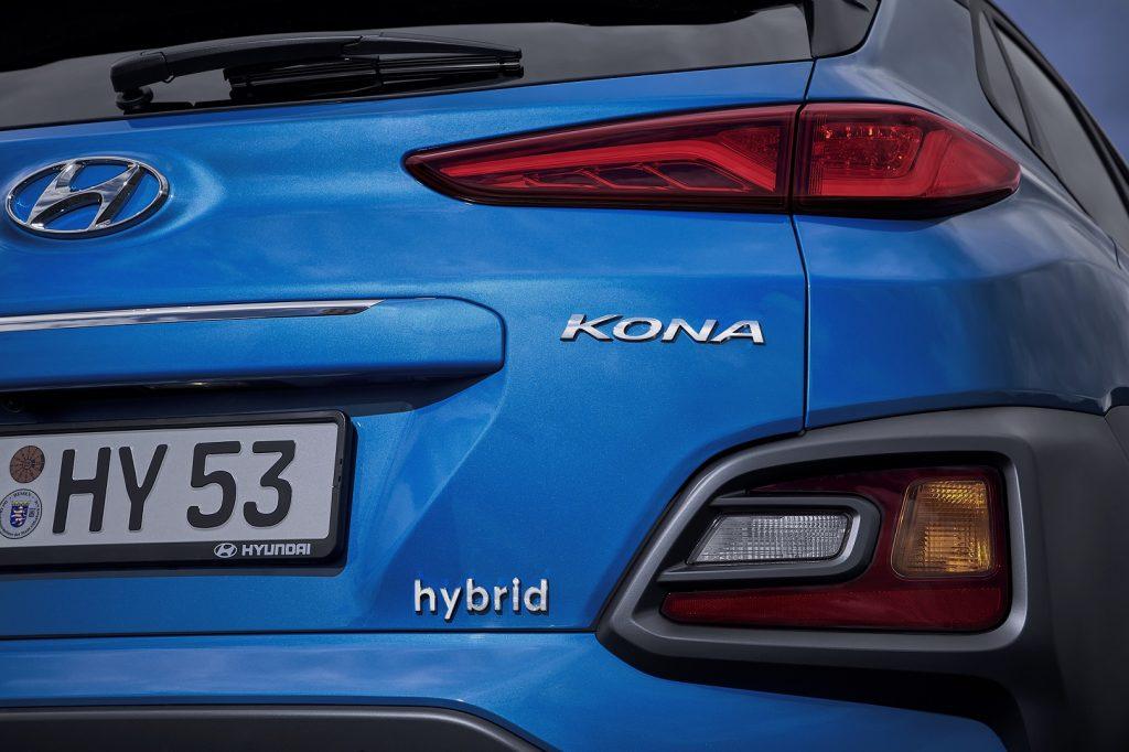Hyundai Kona Hybrid - označení hybrid