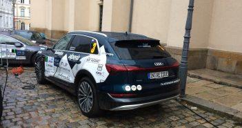 Audi e-tron na ECO energy Rally Bohemia nabíjení - zezadu