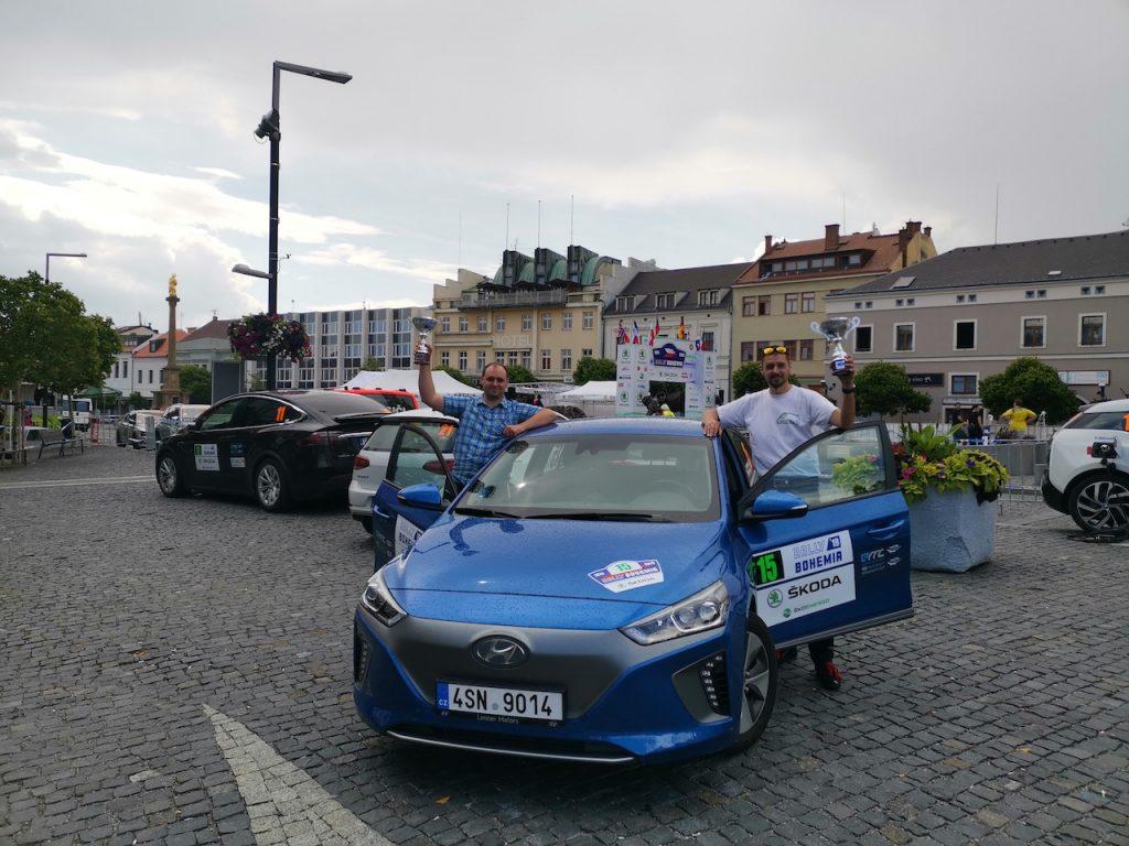 Hyundai Ioniq Electric #EcoRallyTeamCZ - Marek Tomíšek / Miroslav Tomíšek