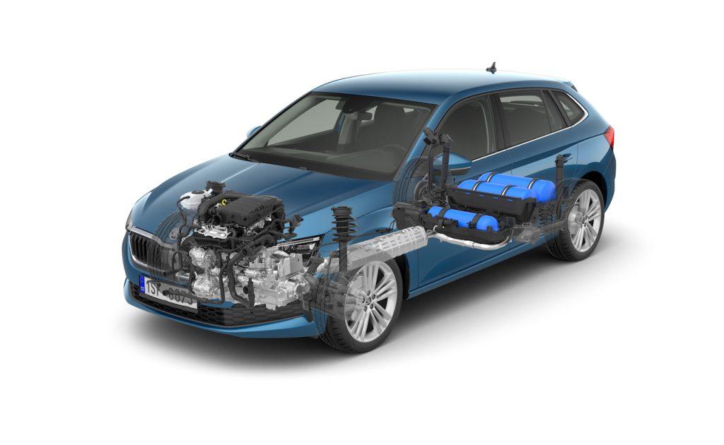 Škoda Scala G-TEC - schéma