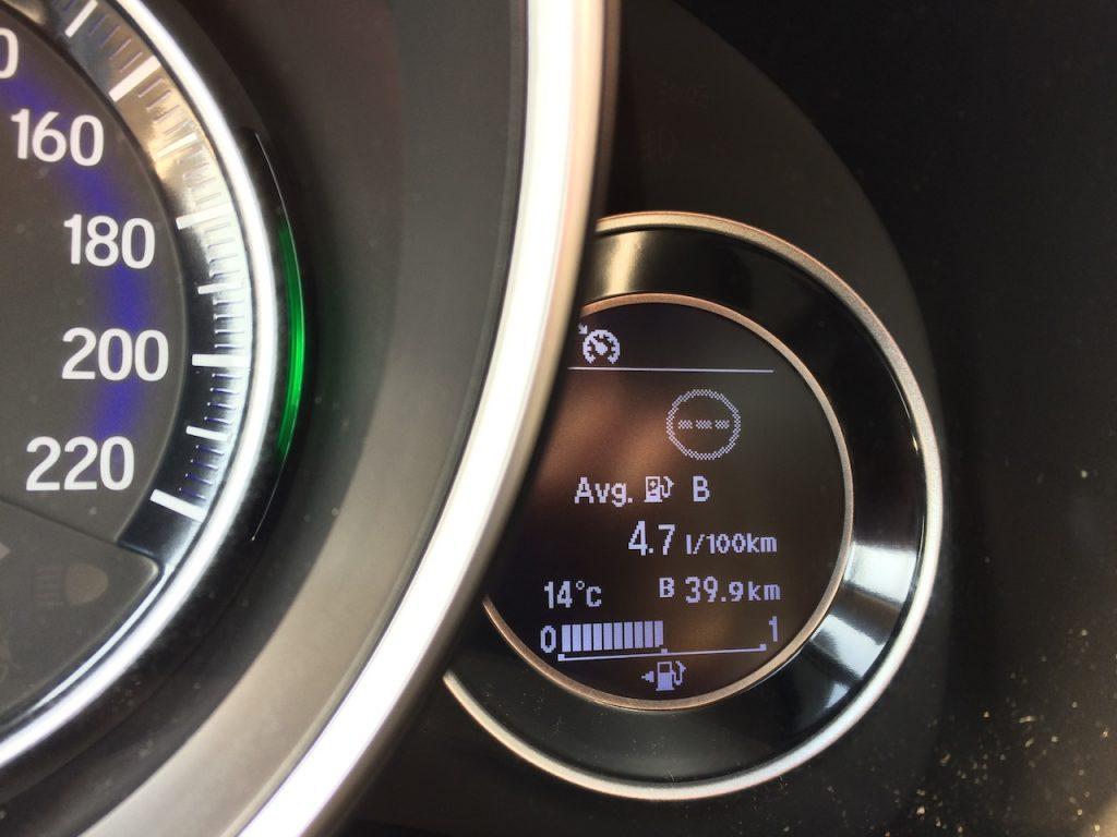 Honda Jazz Dynamic 1,5 i-VTEC 96 kW CVT - skutečná spotřeba
