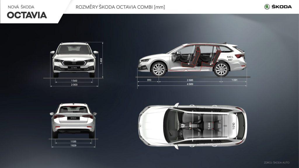 Nová Škoda Octavia Combi - rozměry