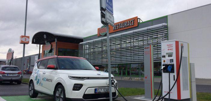 E-Challenge 2019 #EcoRallyTeamCZ - druhé nabíjení - Globus Ostrava