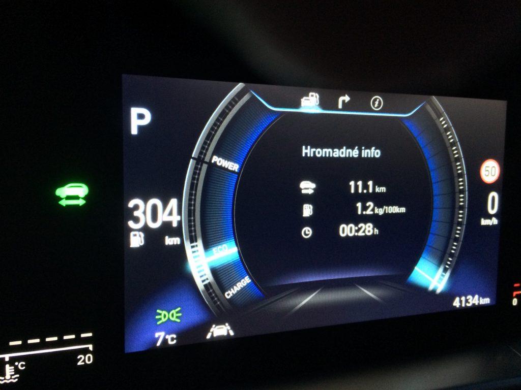 Hyundai Nexo - spotřeba
