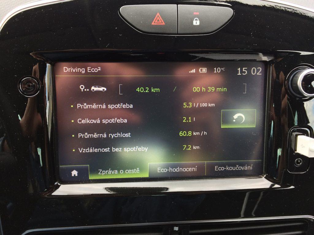 Renault Clio TCe 90 - skutečná spotřeba