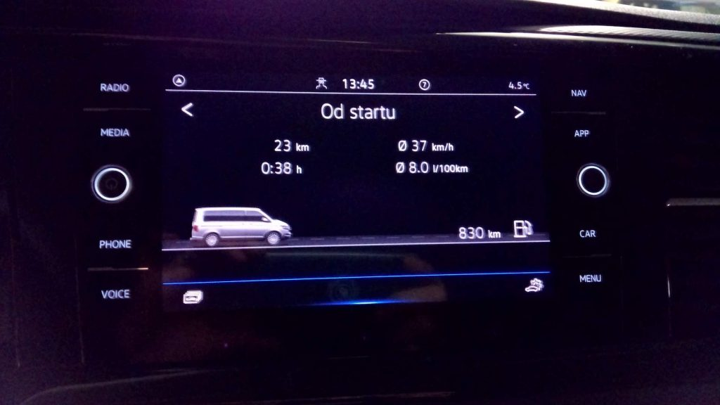 Volkswagen T6.1 Multivan - spotřeba