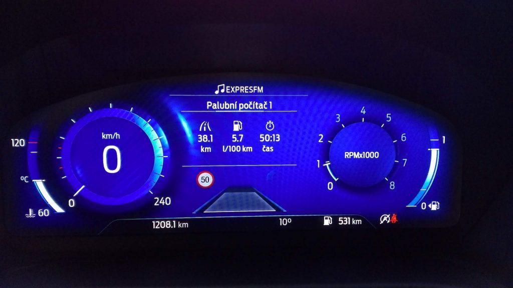 Ford Puma Hybrid - spotřeba