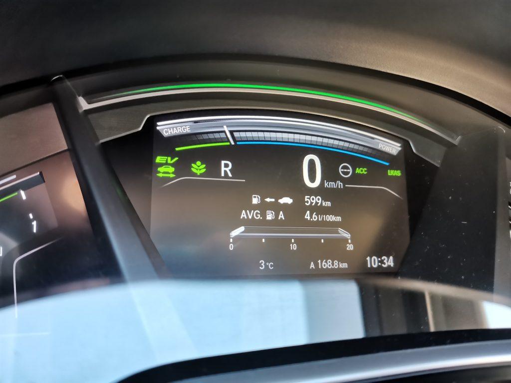 Honda CR-V Hybrid 4WD - spotřeba a dojezd