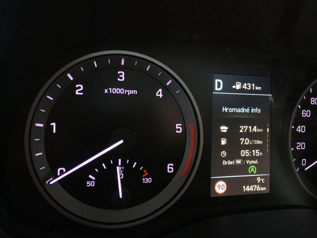 Hyundai Tucson 2.0 CRDi E-VGT Mild-Hybrid 48V - skutečná spotřeba
