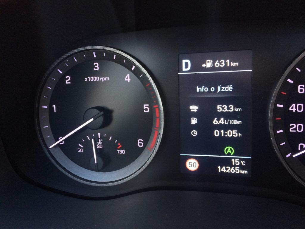Hyundai Tucson 2.0 CRDi E-VGT Mild-Hybrid 48V - spotřeba kombinovaný okruh