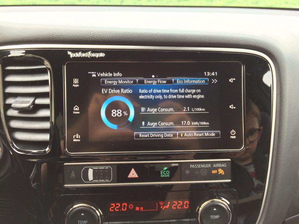 Mitsubishi Outlander PHEV MY19 - spotřeba