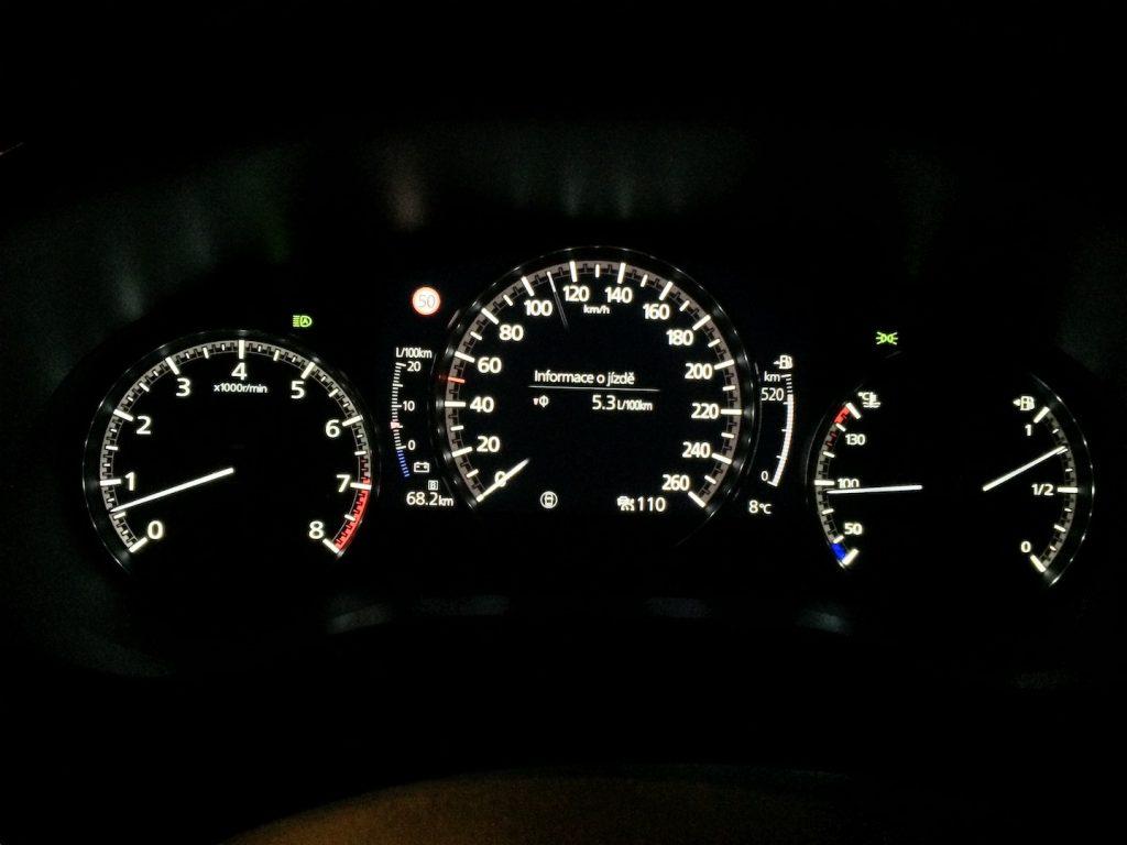 Mazda 3 Skyactiv X - skutečná spotřeba