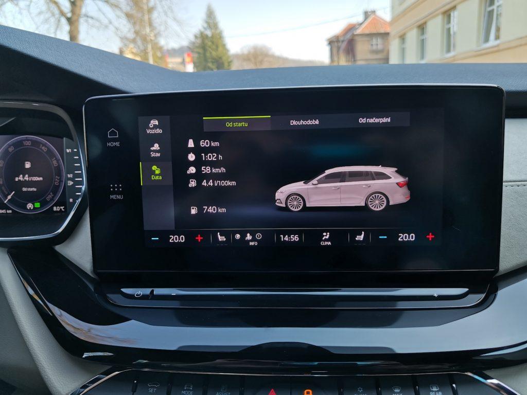 Nová Škoda Octavia - spotřeba - kombinovaný okruh
