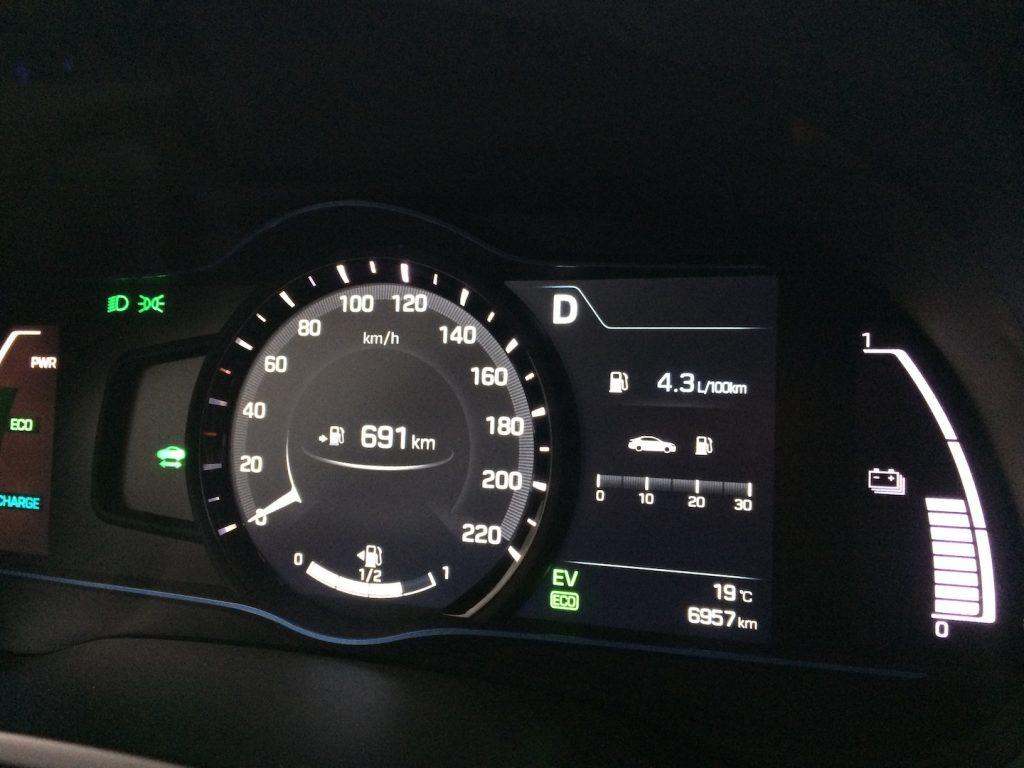 Hyundai Ioniq Hybrid - skutečná spotřeba