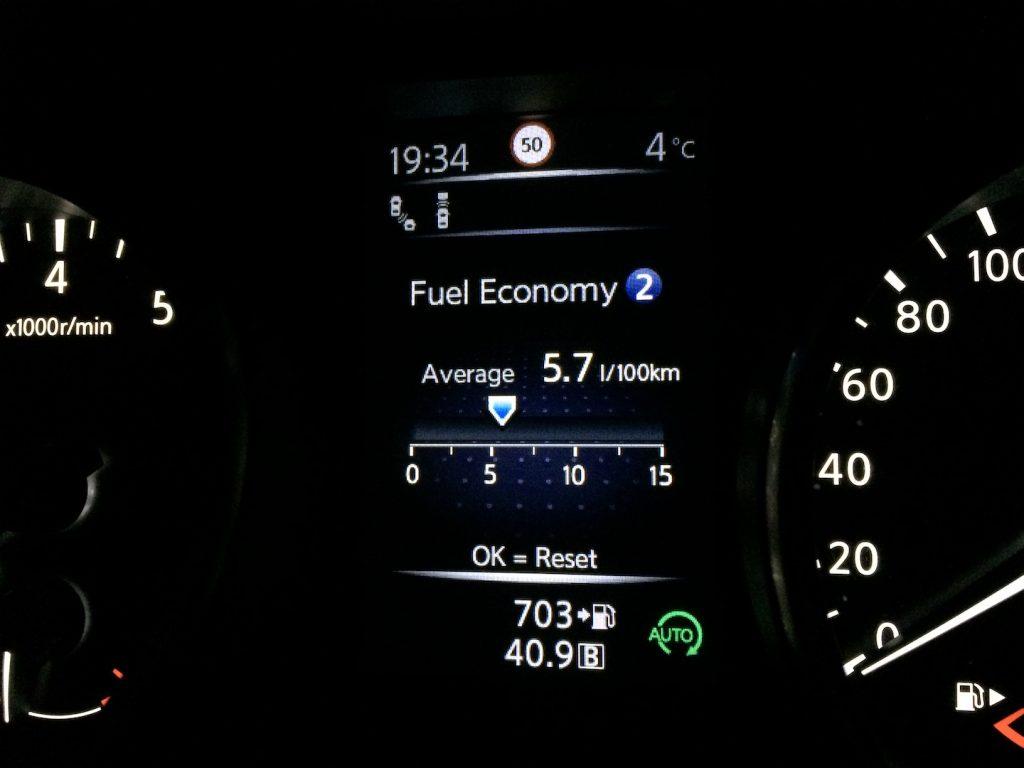 Nissan Qashqai 1,6 DIG-T 120 kW - skutečná spotřeba