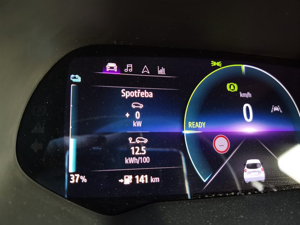 Renault ZOE - spotřeba