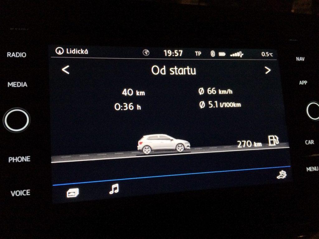 Volkswagen Polo 1.0 TSI 70 kW DSG7 – skutečná spotřeba
