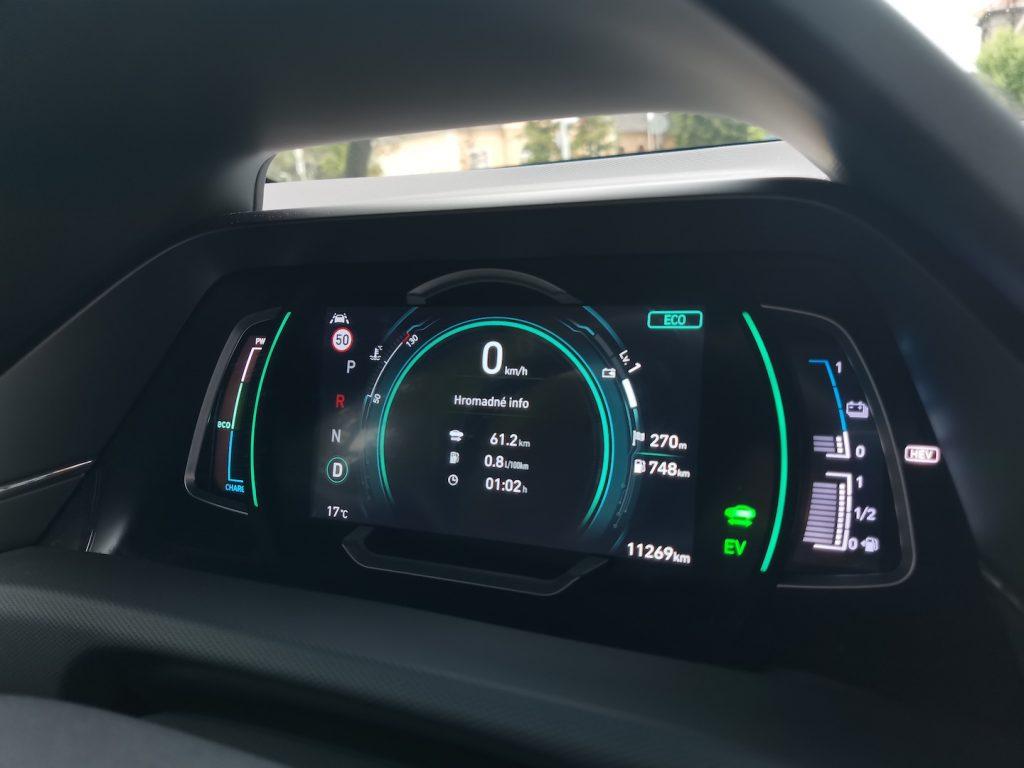 Hyundai Ioniq Plug-in hybrid - skutečná spotřeba