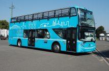 Dvoupatrový autobus Scania na CNG