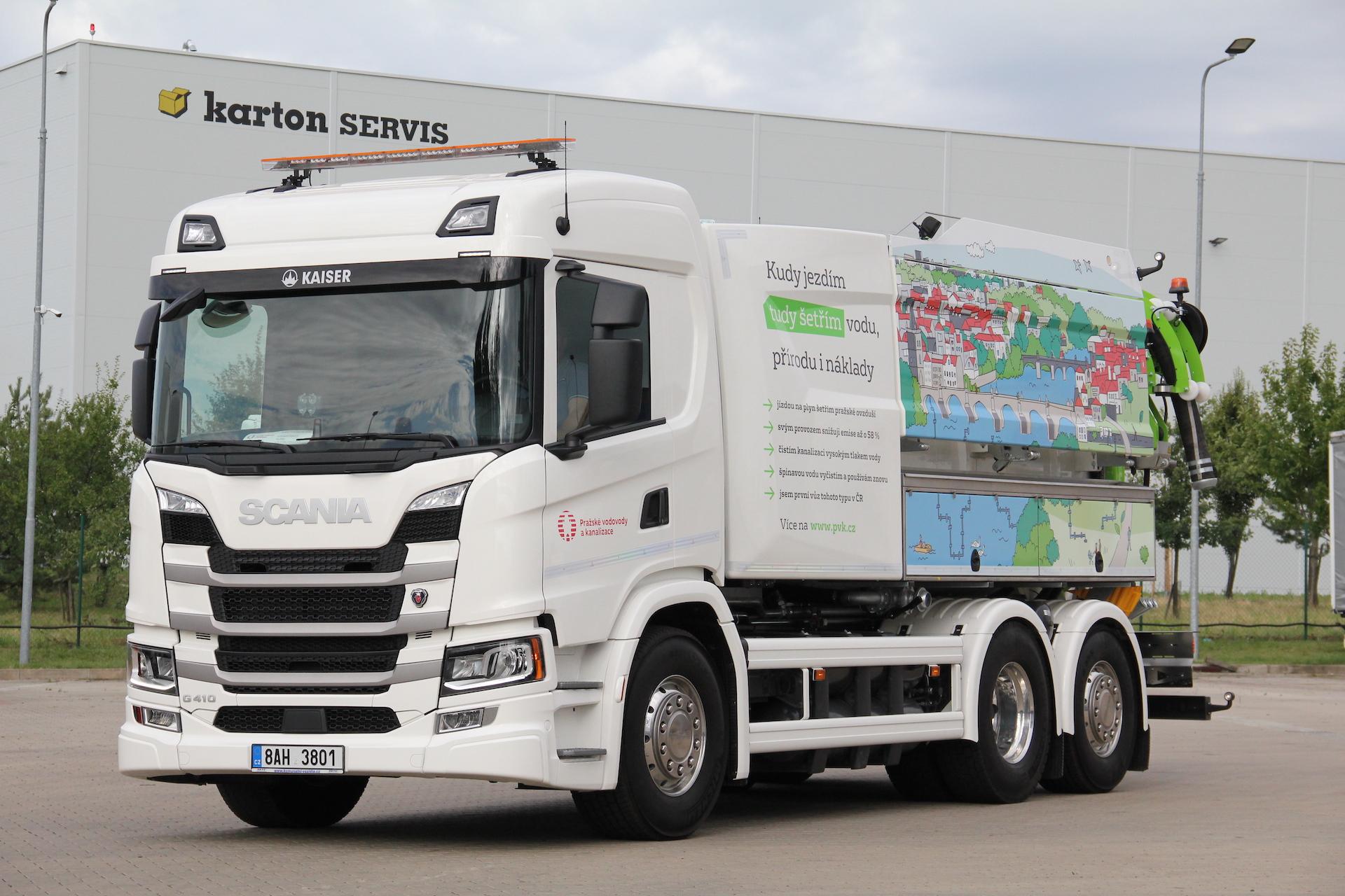Scania na bio CNG - Pražské vodovody a kanalizace