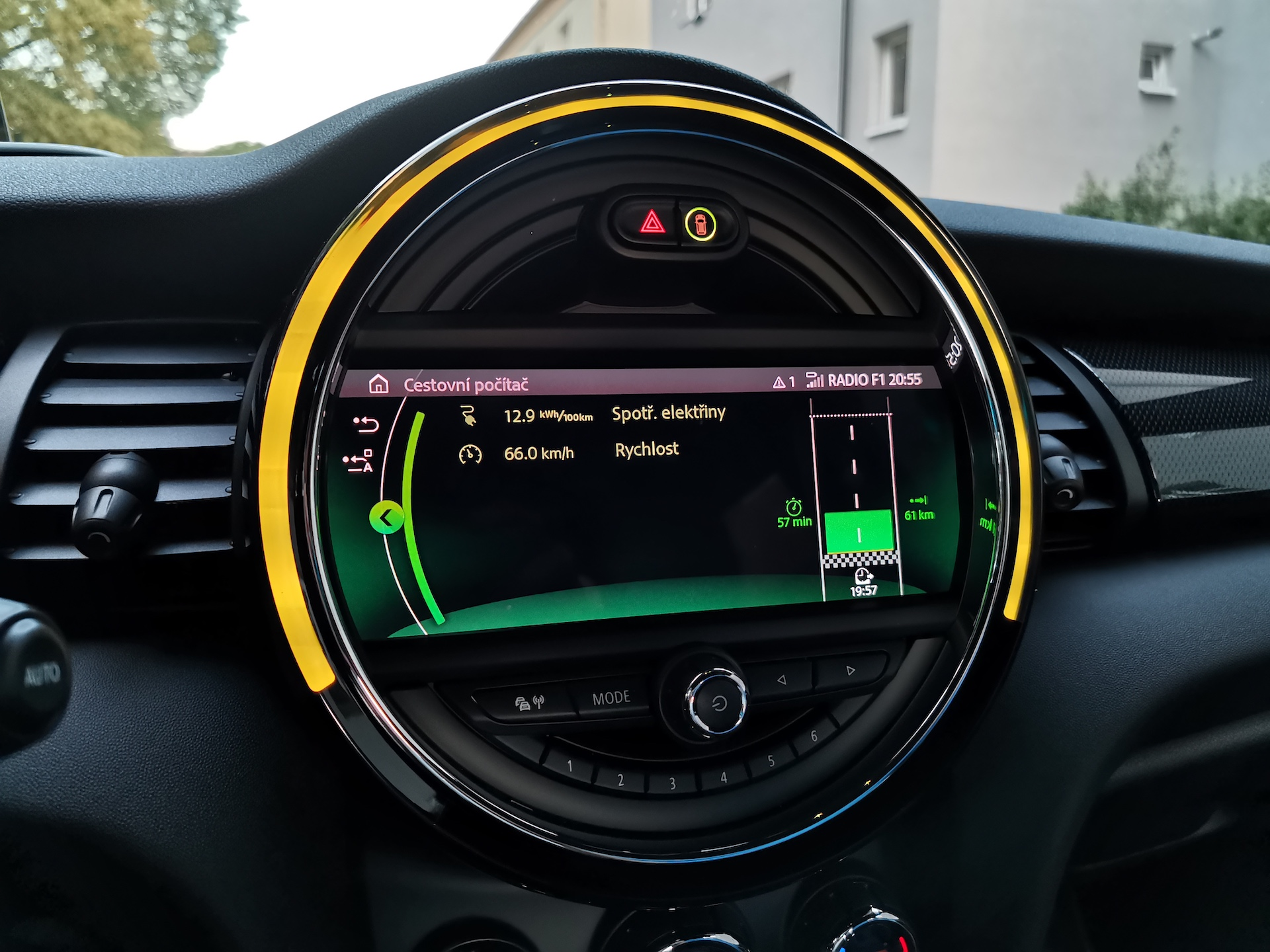 Mini Cooper S E - spotřeba, kombinovaný okruh