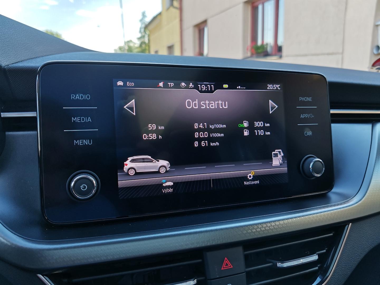 Škoda Kamiq G-TEC (CNG) - kombinovaná spotřeba