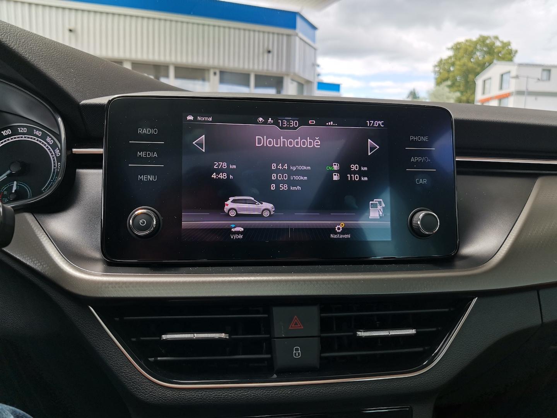 Škoda Kamiq G-TEC (CNG) - skutečná spotřeba