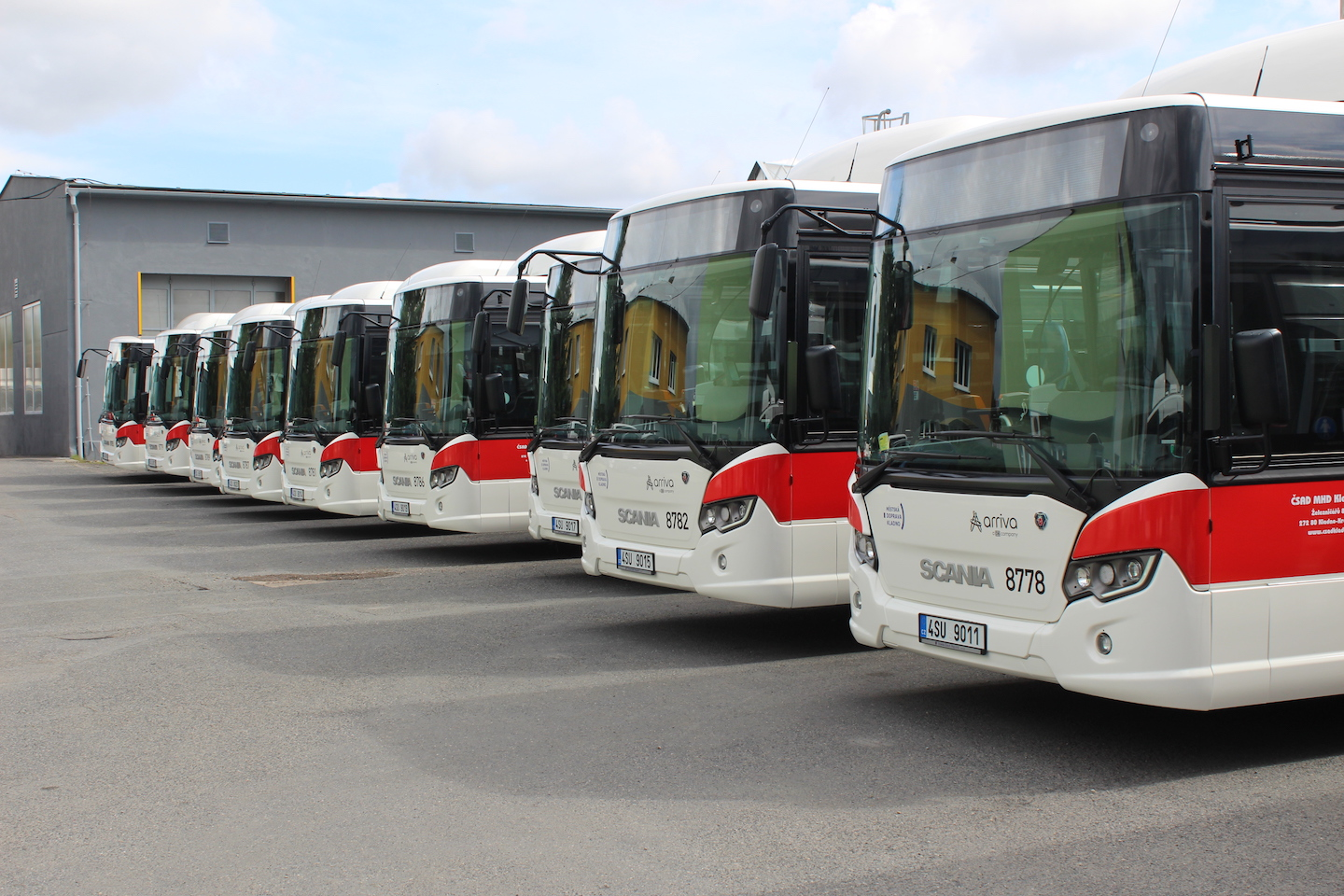 Autobusy Scania Citywide LF na CNG