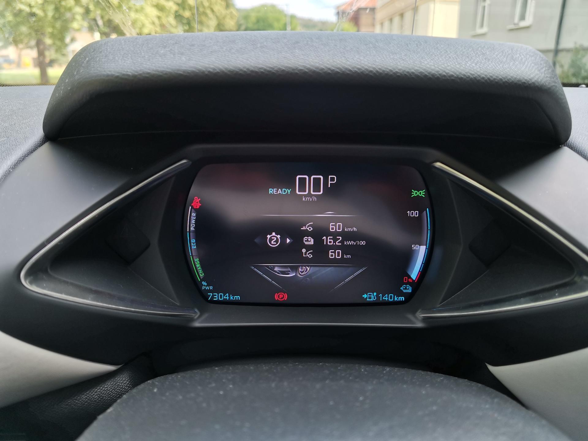 DS 3 Crossback E-Tense - kombinovaná spotřeba okruh