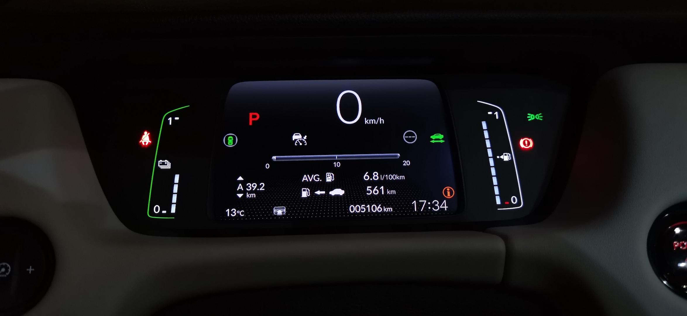 Honda Jazz e:HEV (hybrid) - spotřeba, Beroun - Praha