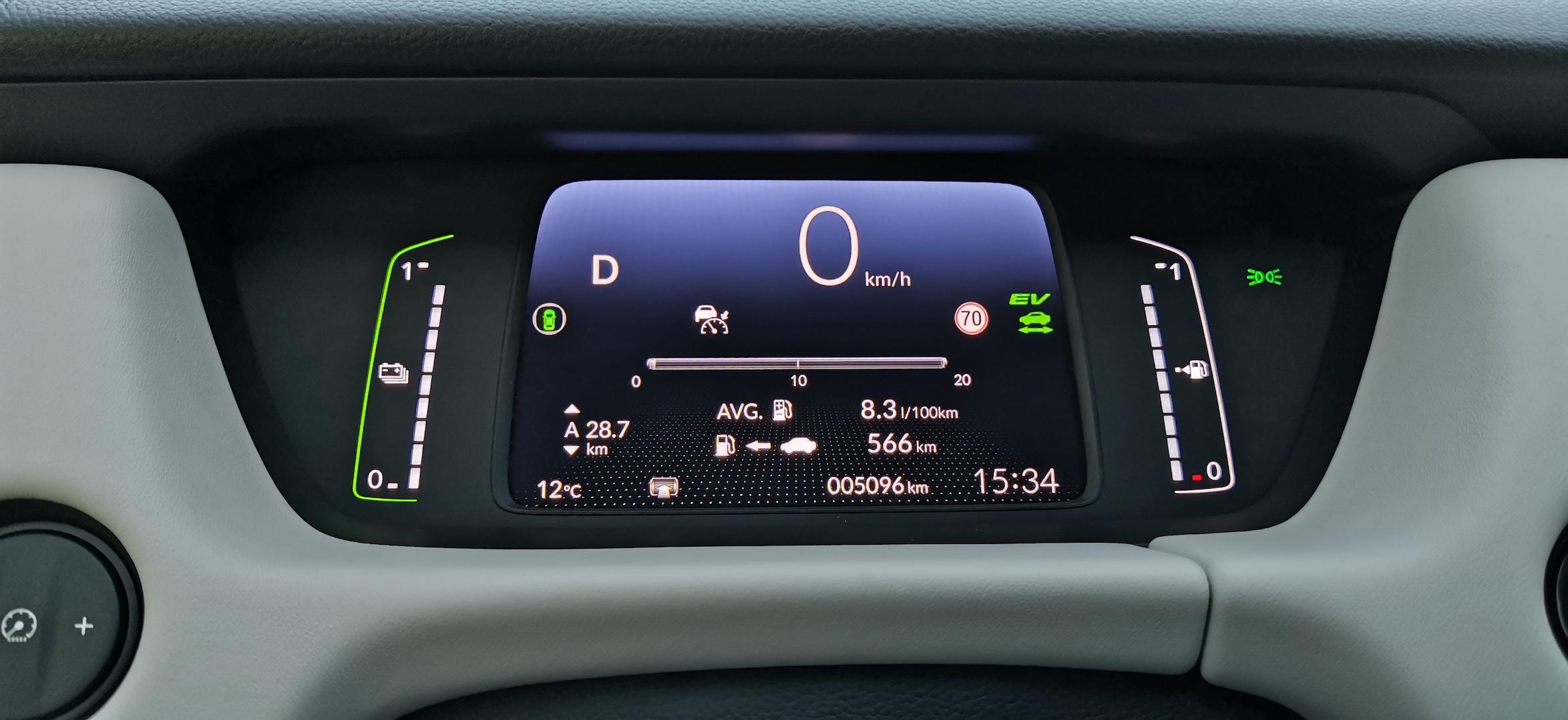 Honda Jazz e:HEV (hybrid) - spotřeba, dálnice