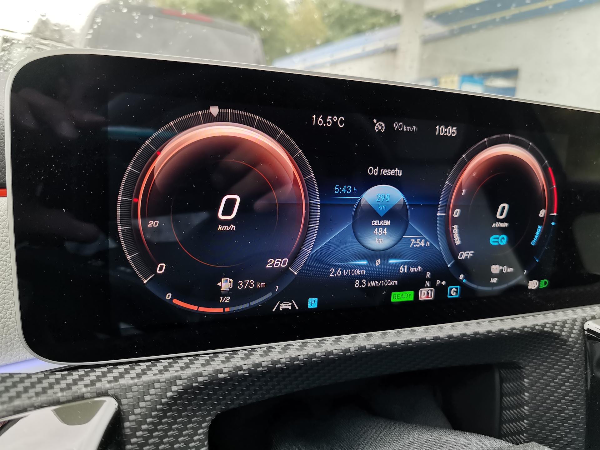 Mercedes-Benz A 250e - skutečná spotřeba