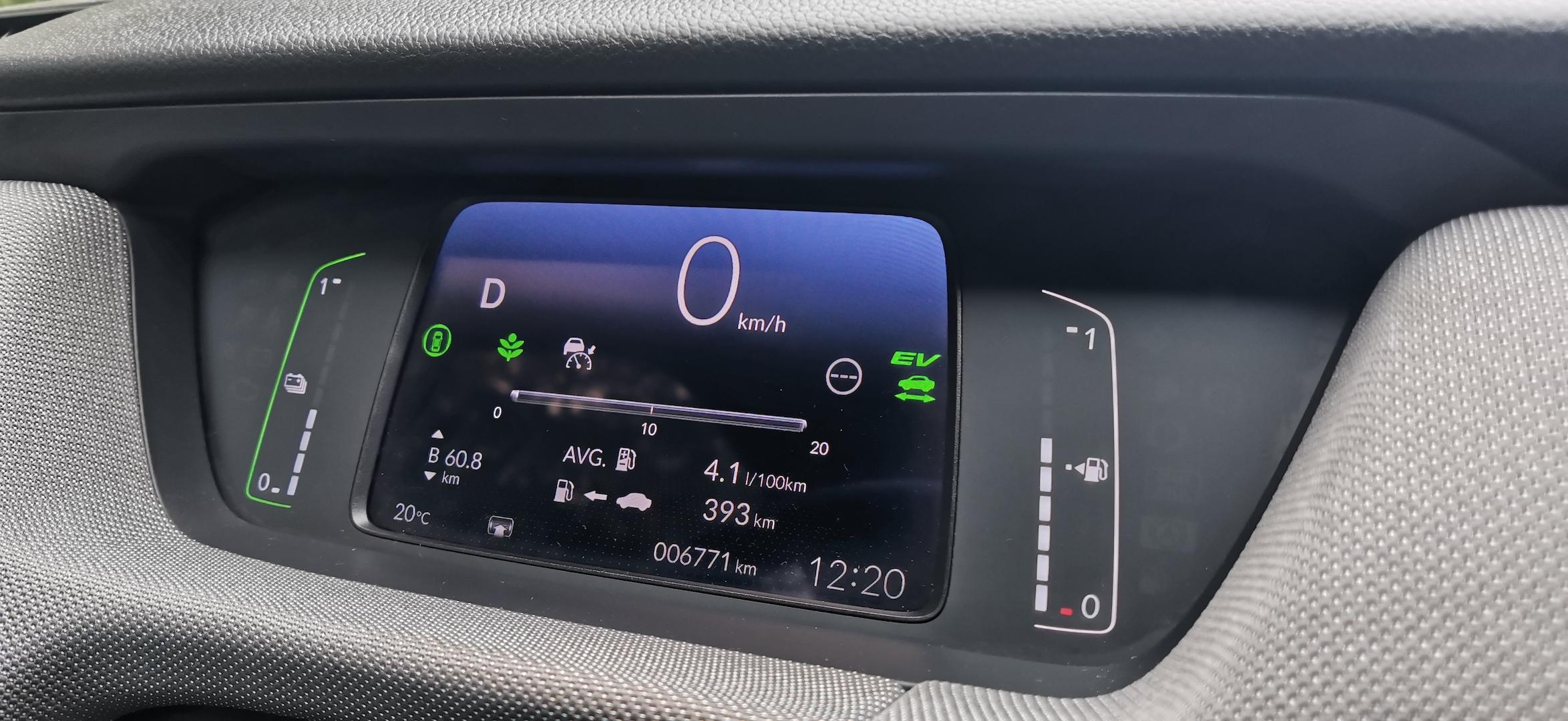 Honda Jazz Hybrid Crosstar - spotřeba, kombinovaný okruh