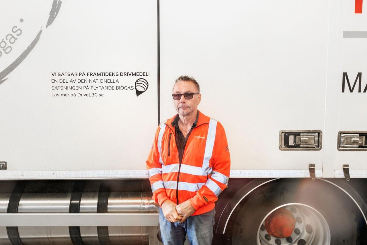 Gunnar Svensson u vozu Scania R410 na bio-LNG
