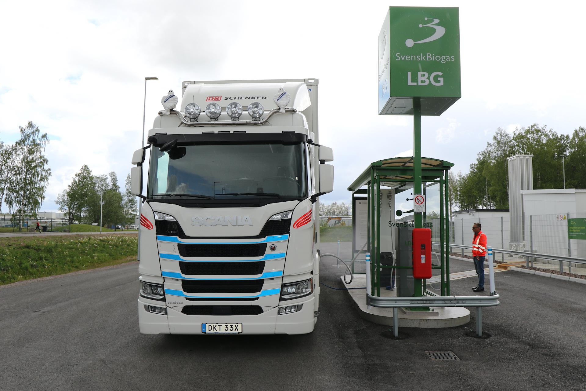 Scania R410 na bio-LNG (bioplyn)