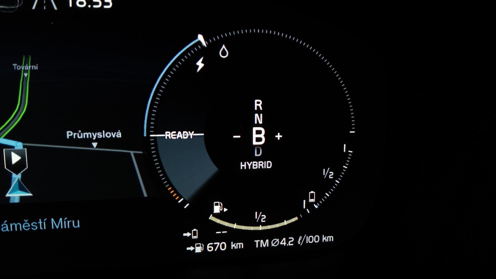 Volvo XC60 T6 AWD Recharge - kombinovaná spotřeba