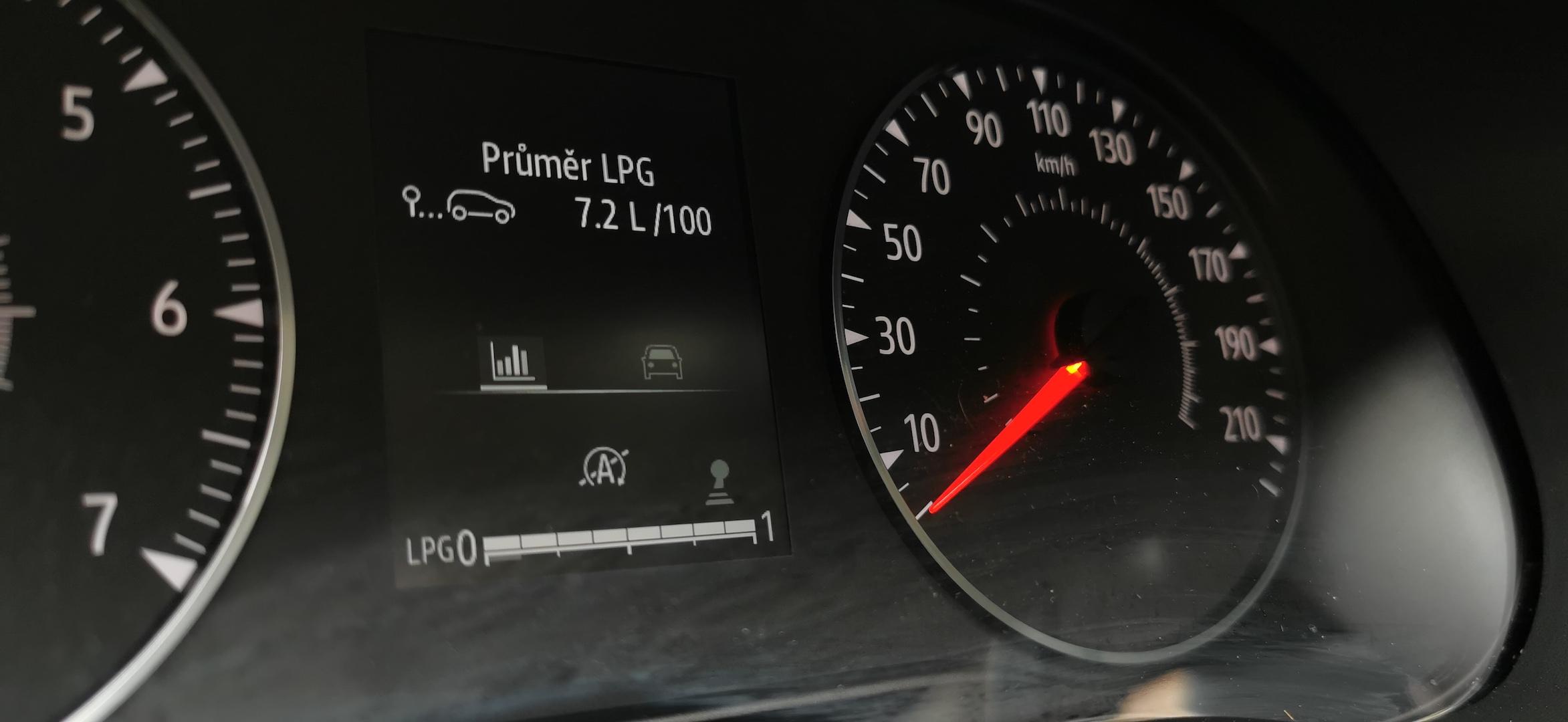 Dacia Sandero Stepway 1,0 TCe LPG - kombinovaná spotřeba